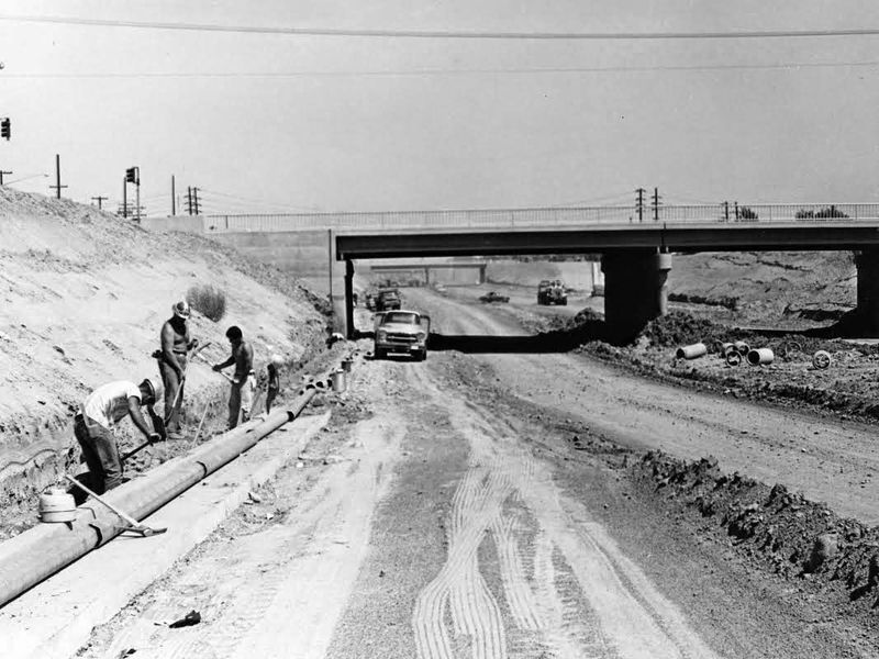 Black_Canyon_Freeway_under_construction_1961