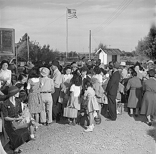 Public_Domain_WWII_Poston,_Arizona_Relocation_Camp_for_Japanese-Americans_by_Hikaru_Iwasaki,_1945_(NARA)_(499693511)