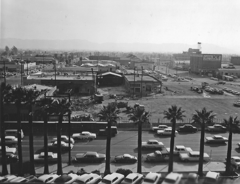 Looking_south_over_Jefferson_towards_2nd_Ave_beginning_construction_Maricopa_County_Government_Complex_1960s