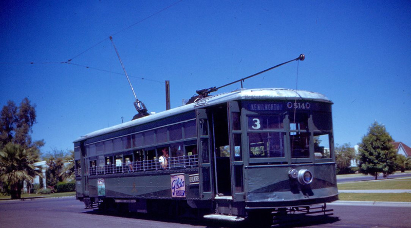 Kenilworth trolley 1946