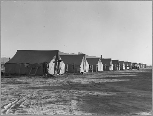 Negro cottonpickers_Pinal_County _Arizona._Quarters_for_Negro_cotton_pickers_on_industrialized_cotton_far_._._._-_NARA_-_522185