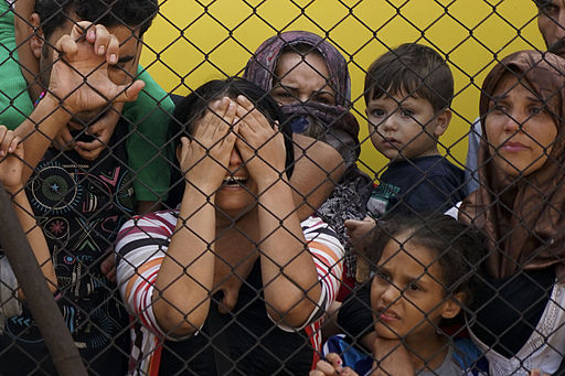 Women_and_children_among_Syrian_refugees_striking_at_the_platform_of_Budapest_Keleti_railway_station._Refugee_crisis._Budapest,_Hungary,_Central_Europe,_4_September_2015._(3)