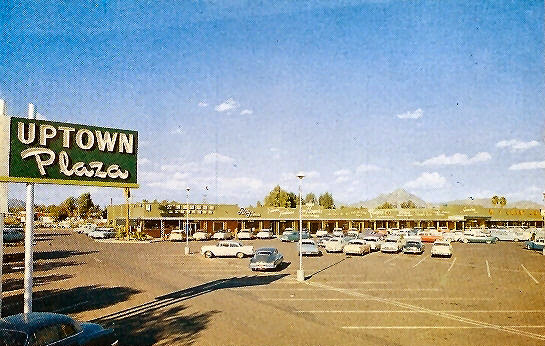 Camelback_Central_looking_northeast_Uptown_Plaza_1950s