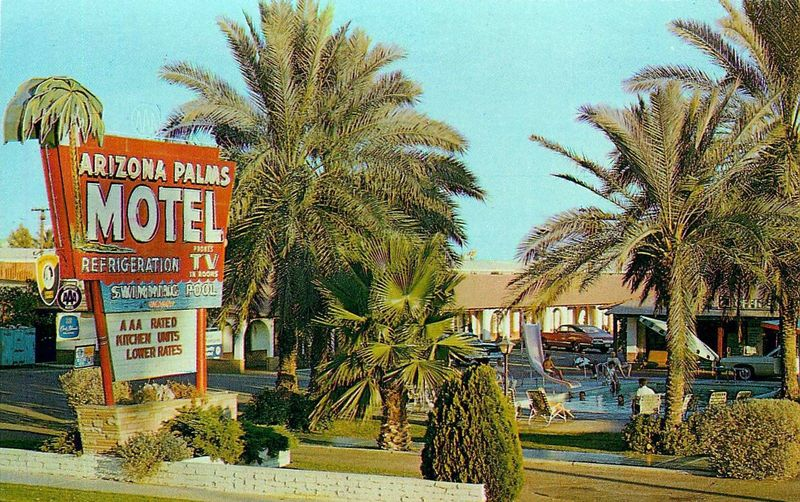 Arizona_Palms_Motel_3725_E_Van_Buren_pool_slide_1960s