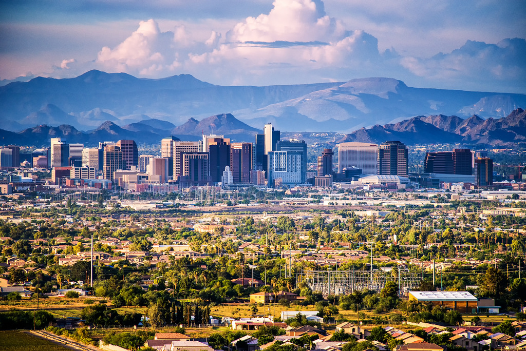 Image result for city of phoenix skyline