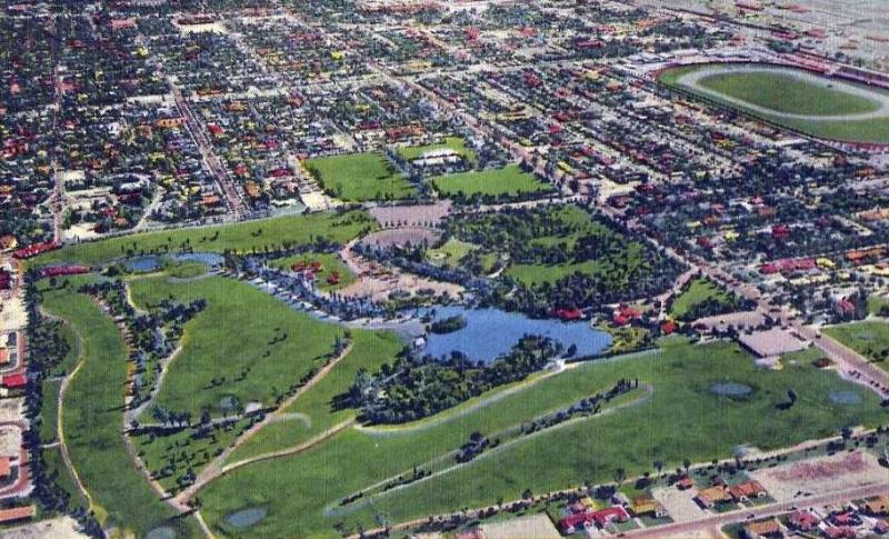 Encanto Park 1950s overhead