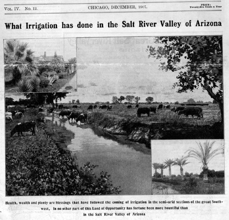 Irrigation_Salt_River_Valley_the_Earth_1907
