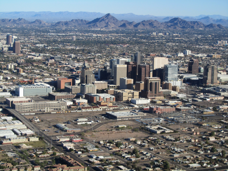 Phoenix_AZ_Downtown_from_airplane