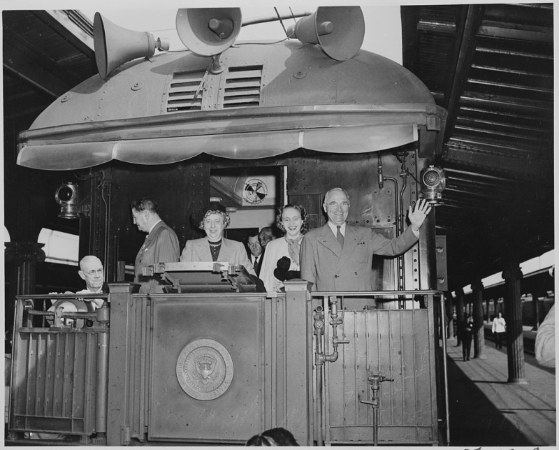 Truman campaign train 1948