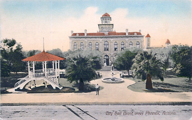City_Hall_territorial_Washington_1st_St_front_view_gazebo_1912