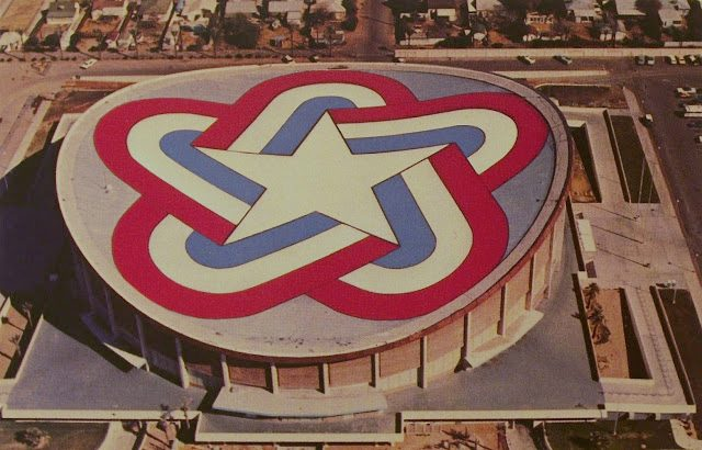 Coliseum painted for bicentennial