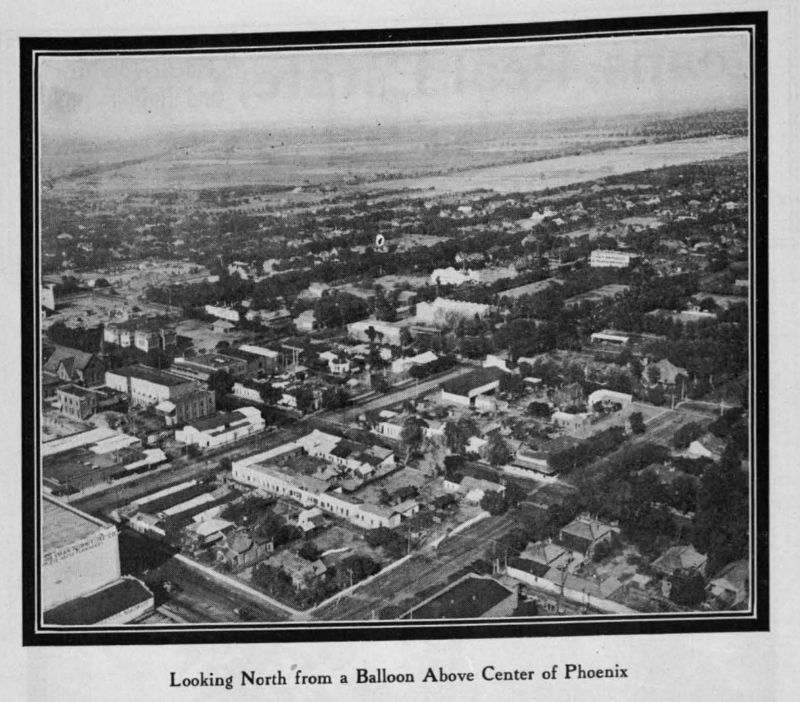 Balloon over Phoenix  Second St Adams 1911