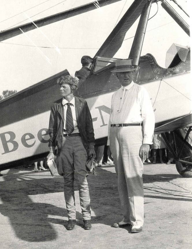 Amelia Earhart at Phoenix S Central Airport  1931  UCS libraries