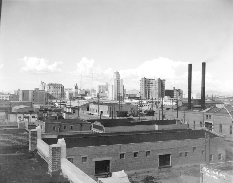 Warehouse skyline view