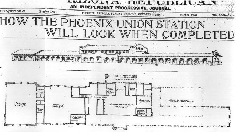Phoenix Union Station 1920