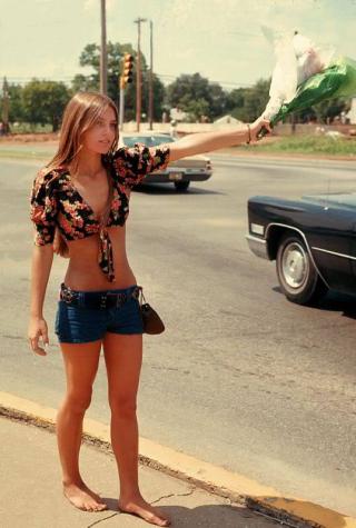 Flower girl 1970s