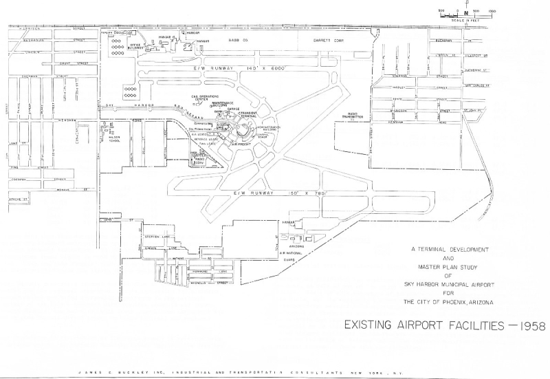 Sky Harbor map 1958