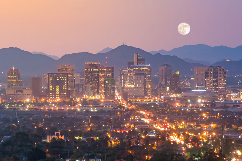 Phoenix night skyline
