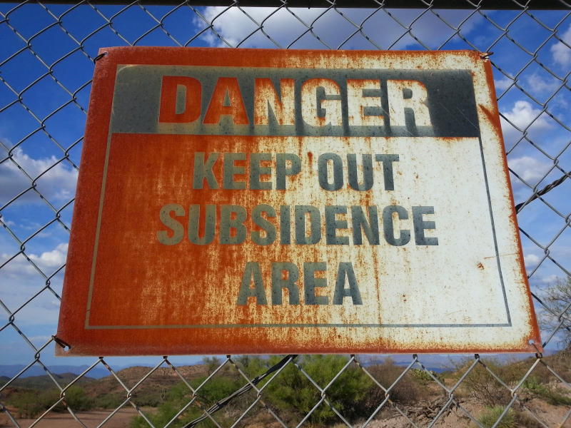 Subsidence sign flickr