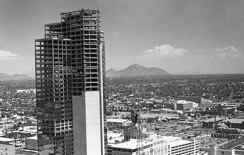 Valley_Center_under_construction_Camelback_Mountain_1972