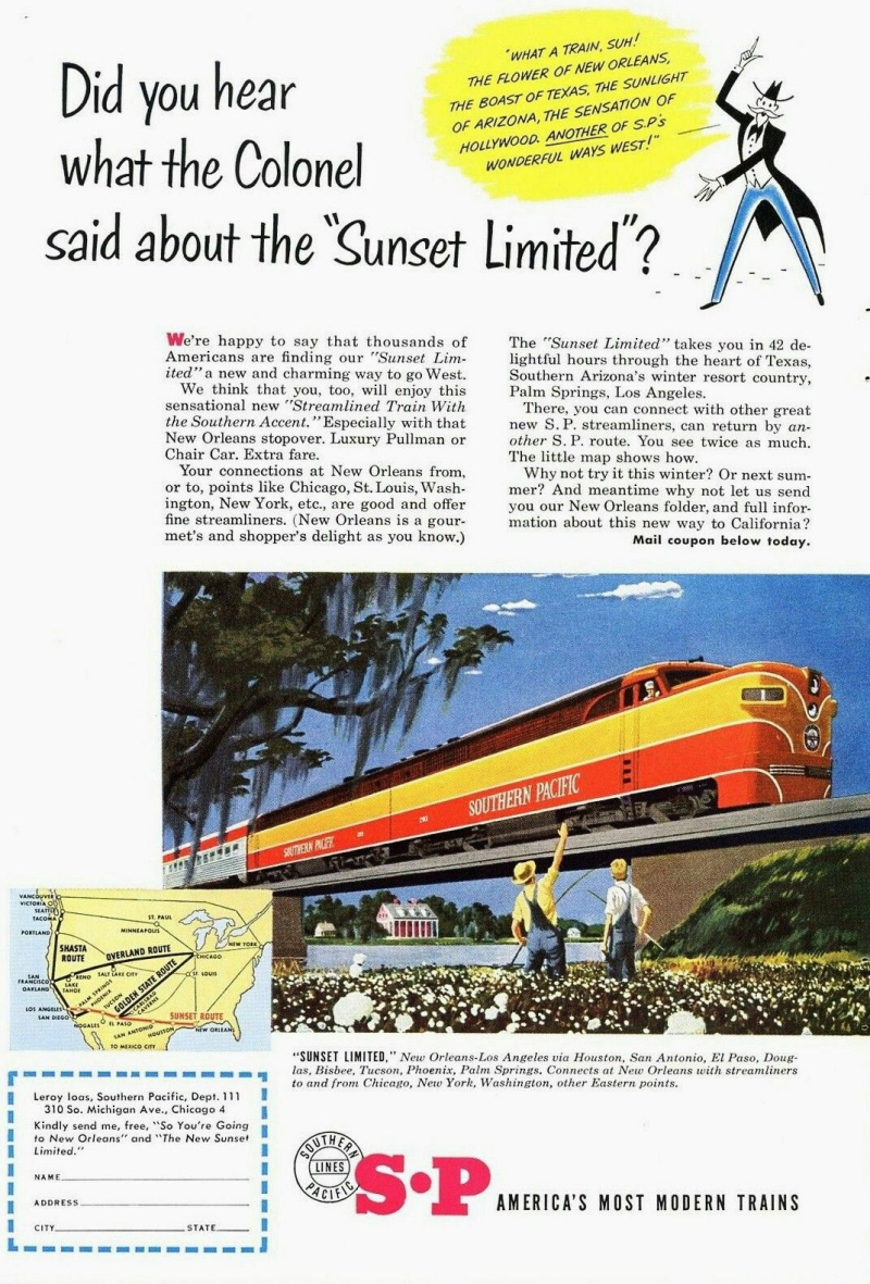 Sunset Limited ad 1951