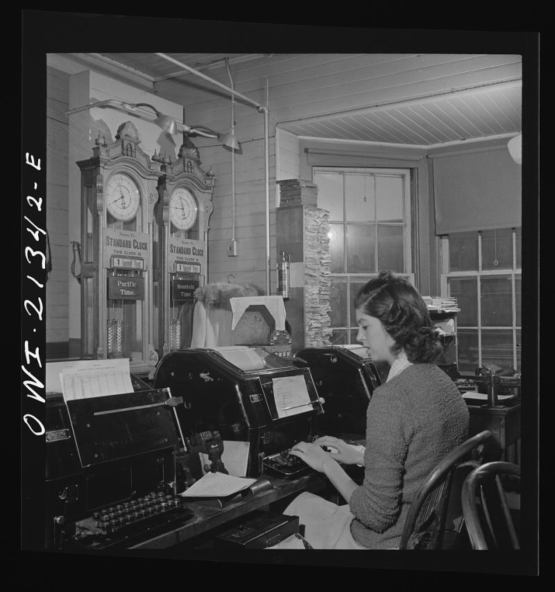 Seligman telegraph operator 1943 ATSF
