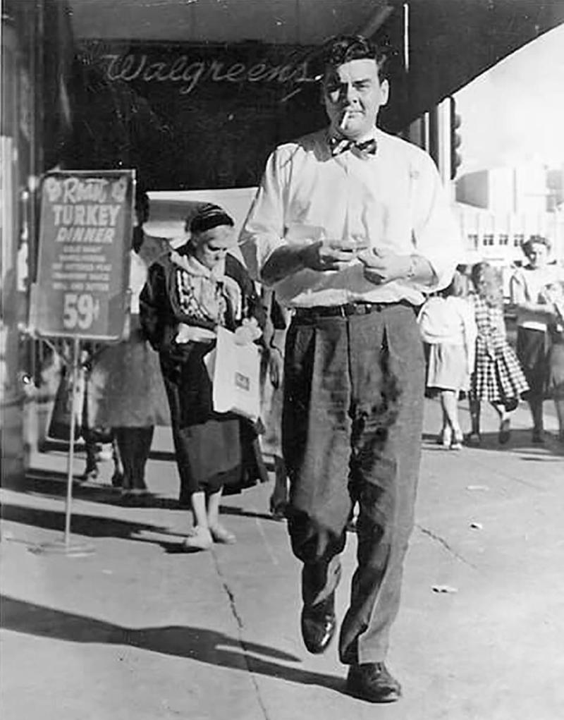 Central Washington 1950s sidewalk