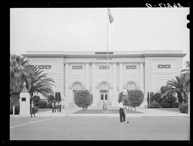 PUHS auditorium 1940