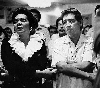 Coretta King  Cesar Chavez  1972 Santa Rita Hall  1017 E. Hadley