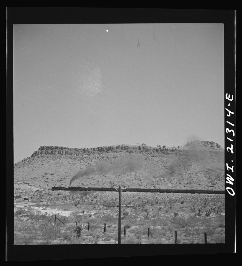 Double-headed passenger train near Kingman 1943