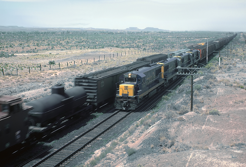 ATSF near Holbrook 1962 new U25B