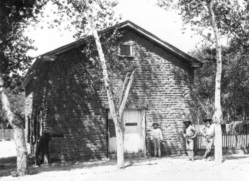 1873 adobe schoolhouse Central Monroe