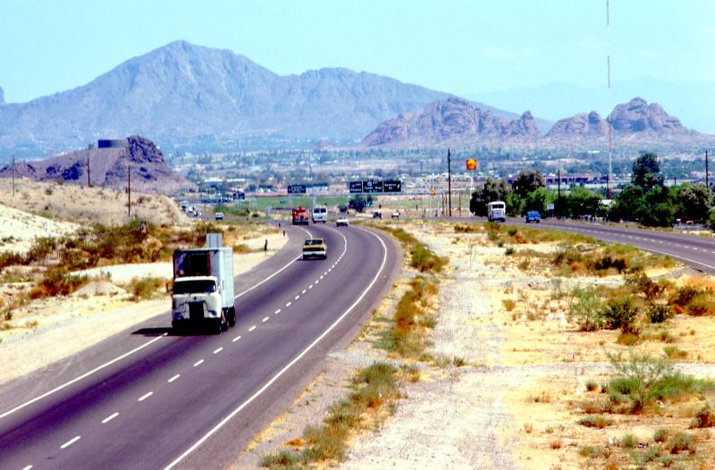 I-10 enters Phx 1975