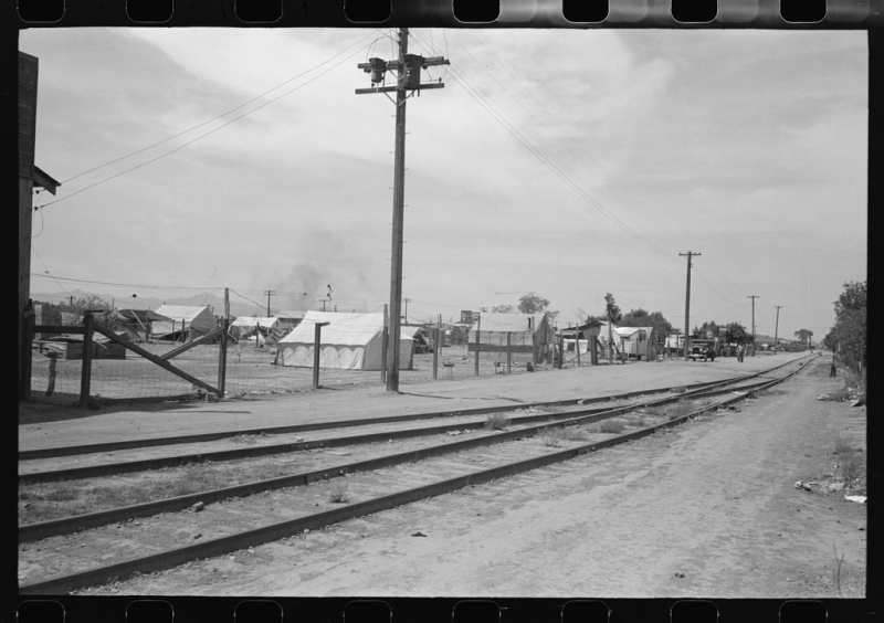 Tents other side of the tracks 1940