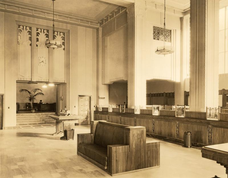 Professional Bldg lobby 1930s CSL