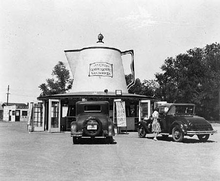 Coffee Pot NE corner 7 St and McDowell 1930s