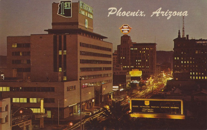 Downtown night 1960s
