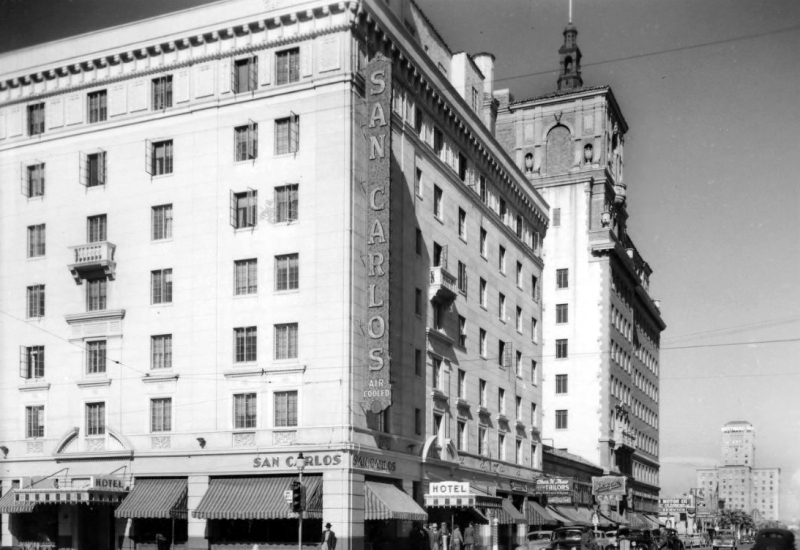 Central_Monroe_looking_northwest_San_Carlos_Security_Building_1940s(1)