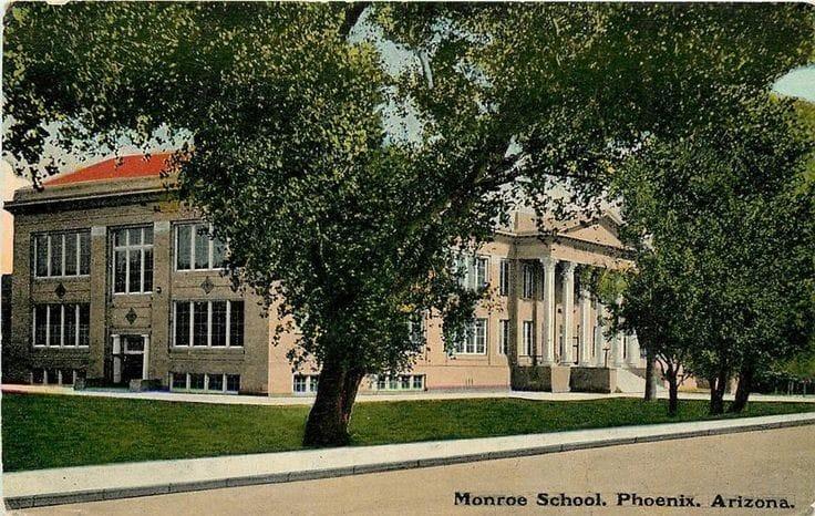 Monroe School 1914 postcard
