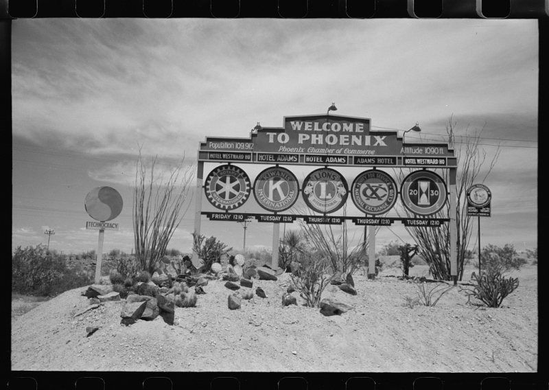 Sign outside Phoenix 1940