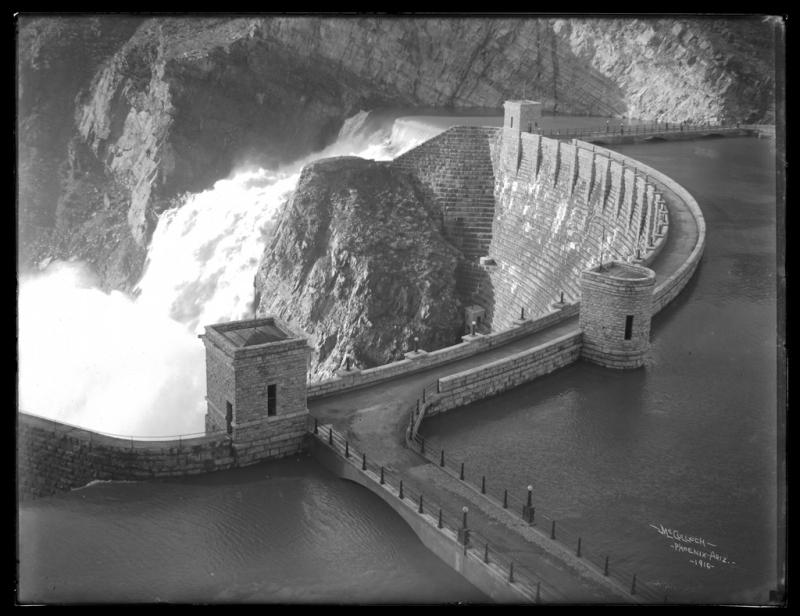 Roosevelt dam high water 1916