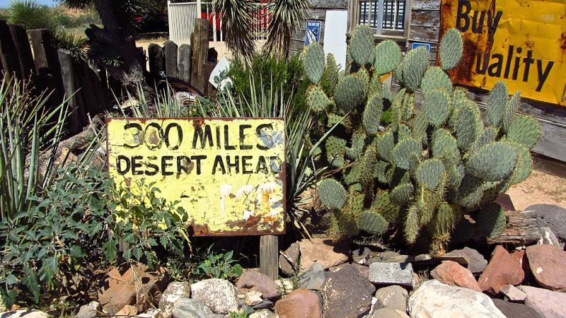 1024px-Old_desert_ahead_sign_(8155680539)