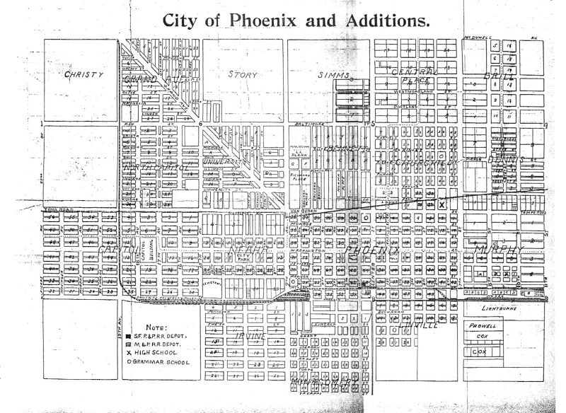 City_of_Phoenix_and_Additions_map_1899