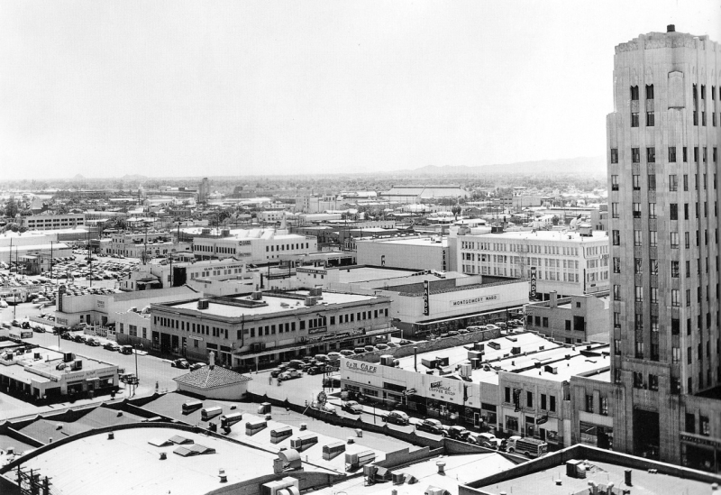 Professional_Building_Monroe_looking_southeast_1st_St_1940s(1)
