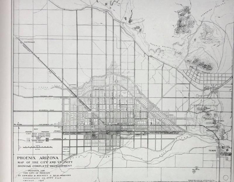 Phoenix planning map 1920