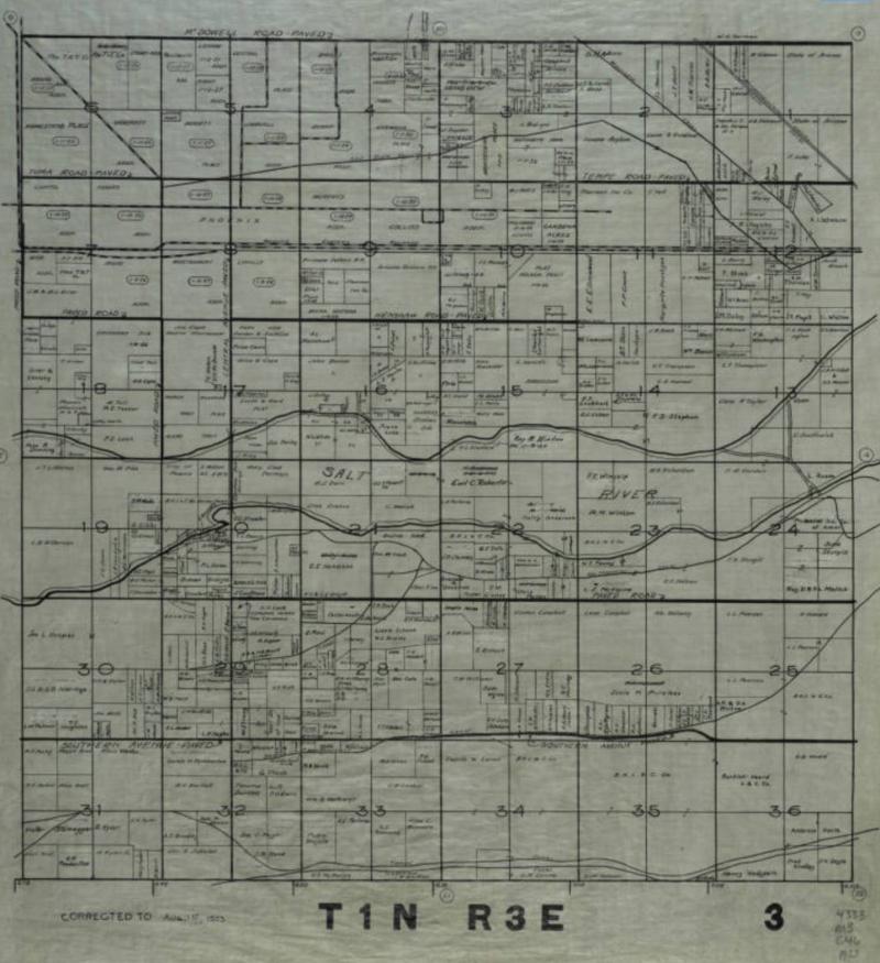 Township 1 North Range East 1923