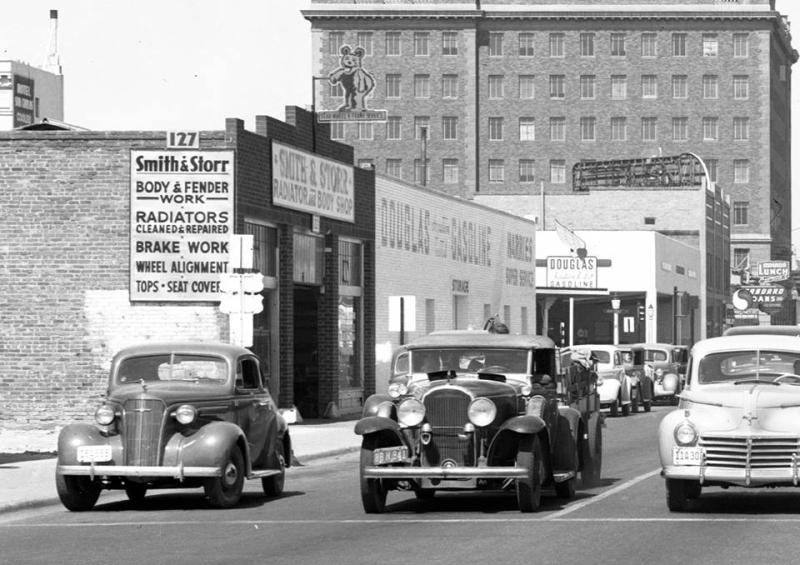 Second St and Van Buren 1940